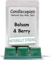 Candlecopia Balsam and Berry Strongly Scented Hand Poured Vegan Wax Melts, 12 Scented Wax Cubes, 6.4 Ounces in 2 x 6-Packs