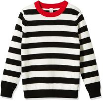 Kid Nation Boys Striped Pullover Sweater Round Neck Long Sleeve Casual Sweatshirt for Kids 4-12Y
