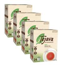 Tejava Unsweetened Black Tea Pods with Natural Mint Flavor, Award-Winning Tea, 100% Recyclable Single Serve Cups | Keurig K Cup Compatible (Case Of 96)
