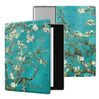 Ayotu Colorful Case for All-New Kindle Oasis (10th Gen, 2019 Release & 9th Gen, 2017), Premium PU Leather Cover with Auto Wake/Sleep, Strong Adsorption for 7''Kindle Oasis, The Apricot Flower