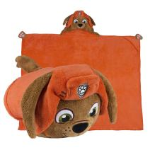 Comfy Critters Paw Patrol Blanket – Zuma – Kids Huggable Pillow and Blanket Perfect for Pretend Play, Travel, nap time.