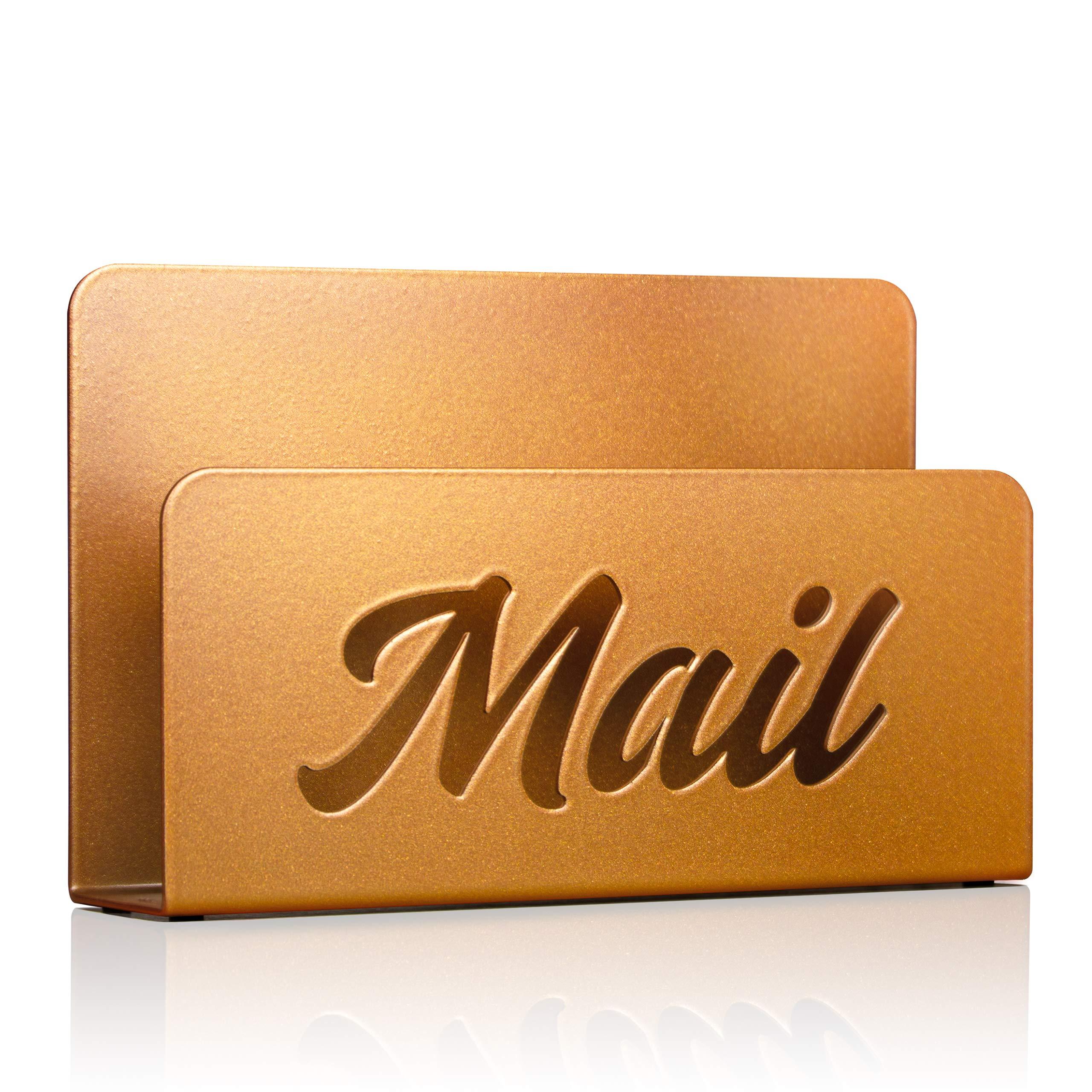 Metal Mail Holder and Desk Organiser (Burned Copper)