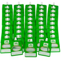 Disposable Baby Food Storage Squeeze Pouch Containers, 6oz - 48 Pack - Make Your Own Homemade Organic Food for Babies and Toddlers - Works with Most Filling Stations Including Infantino
