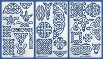 Aleks Melnyk #37 Metal Journal Stencils/Celtic Knot Set/Stainless Steel Stencils Kit 3 PCS/Templates Tool for Wood Burning, Pyrography and Engraving/Scrapbooking/Crafting/DIY
