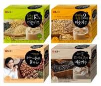 Damtuh Korean 12 Super Grain Mix Powder 12 Sticks + 15 Roasted Grains with Yam 12 Sticks + Black Grain Mix Powder 12 Sticks + Walnuts Almonds Job's Tears Tea 15 Sticks
