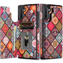 HianDier Wallet Case for Galaxy Note 10 Slim Protective Case with Credit Card Slot Holder Flip Folio Soft PU Leather Magnetic Closure Cover for 2019 Samsung Galaxy Note 10, Mandala Colorful