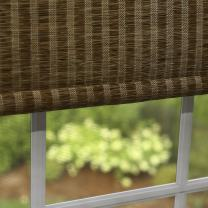 "Best Home Fashion Closeout Premium Single Roller Window Shade - Brown - 25"" W x 64"" L"