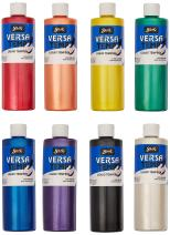 Sax Versatemp Heavy-Bodied Pearls Tempera Paint, 1 Pint, Assorted Colors, Set of 8 - 1440733