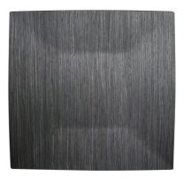 Gray Pine Square Charger Plate