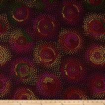 Henry Glass Radiance 108'' Wide Back Diamond Flower Fabric, Eggplant, Fabric By The Yard