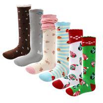 Qyqkfly Girls Lovely Princess Knee High Unique Cute Christmas Owl Boot Tube Socks(FBA)