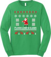 GunShowTees Floss Like a Claus Ugly Christmas Long Sleeve T-Shirt