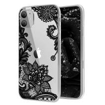 Savourio iPhone 11 Pro Max Case, HD Clear Ultra Slim Fit Soft TPU Protective Clear Case Shock-Absorption Anti-Scratch Compatible Cover Cases for iPhone 11 6.2 inch [2019] [Lace Black]