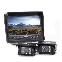 Rear View Safety Backup Camera System (2 Camera) with 7 Inch Monitor for RV's, Trucks, Buses and Commercial Vehicles RVS-770614
