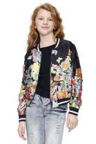 TRULY ME, Big, Little, and Toddler Girls' Printed Fashion Floral Bomber Jackets, Size 2T-4T, 4-6X, 7-16