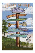 Long Beach Island, New Jersey - Destinations Sign (Premium 1000 Piece Jigsaw Puzzle for Adults, 20x30, Made in USA!)