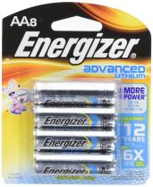 Energizer Advanced Lithium Batteries, AA Size, 8 Count