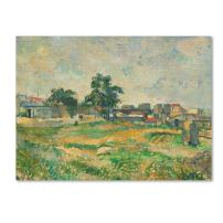 Landscape Near Paris 1876 Artwork by Paul Cezanne, 14 by 19-Inch Canvas Wall Art