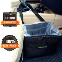 Sunferno Car Trash Can - Prevents Your Car from Litter - Waterproof Universal Fit Garbage Bag Bin for a Visibly Cleaner Car
