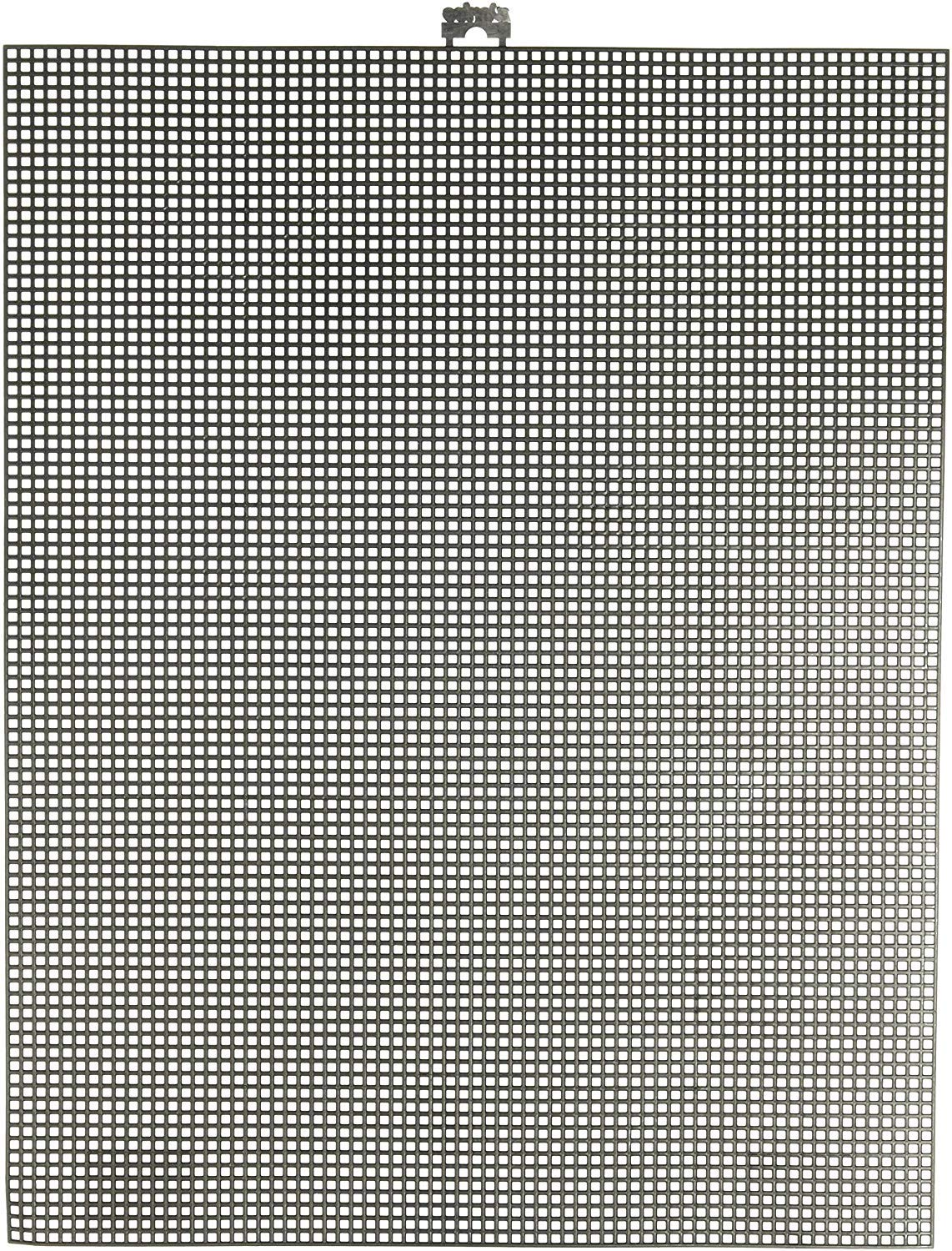 """Darice 7 Mesh Black Plastic Canvas – Create a Variety of Fun Plastic Canvas Crafts Including Bookmarks, Picture Frames, Pins and More – 1 Sheet, 7 Holes Per Inch, 10.5""""x13.5"""" Per Sheet"""