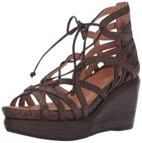 Gentle Souls Women's Joy Wedge Sandal with Ghillie Detail Platform