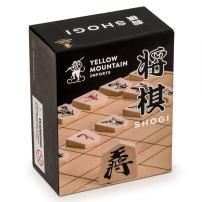 Yellow Mountain Imports Wooden Shogi Japanese Chess Game Traditional Koma Playing Pieces Set