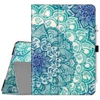 "Fintie Folio Case for New iPad 7th Generation 10.2 Inch 2019 - [Corner Protection] Premium Vegan Leather Smart Stand Back Cover with Pencil Holder, Auto Sleep/Wake for iPad 10.2"", Emerald Illusions"