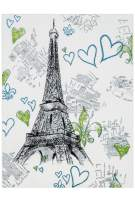"""KC CUBS Boy and Girl Bedroom Modern Decor Area Rug and Carpet Collection for Kids and Children Paris Eiffel Tower (5' 3"""" x 7' 3"""")"""