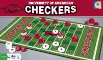 MasterPieces NCAA Arkansas Razorbacks, Checkers Board Game, For Ages 6+