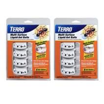Terro T334SR 2 Pack – 8 Discreet Multi-Surface Liquid Ant 8 Bait Stations, Clear
