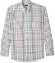 Arrow 1851 Men's Big and Tall Hamilton Poplins Long Sleeve Button Down Plaid Shirt