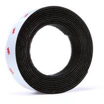 3M Hook/Loop Fastener TB3526N/TB3527N, Black, 1 in x 10 ft