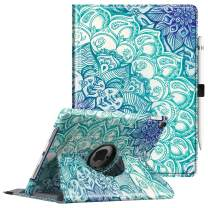 Fintie Case for iPad Pro 9.7-360 Degree Rotating Stand Case with Smart Protective Cover Auto Sleep/Wake Feature for iPad Pro 9.7 Inch (2016 Version), Emerald Illusions
