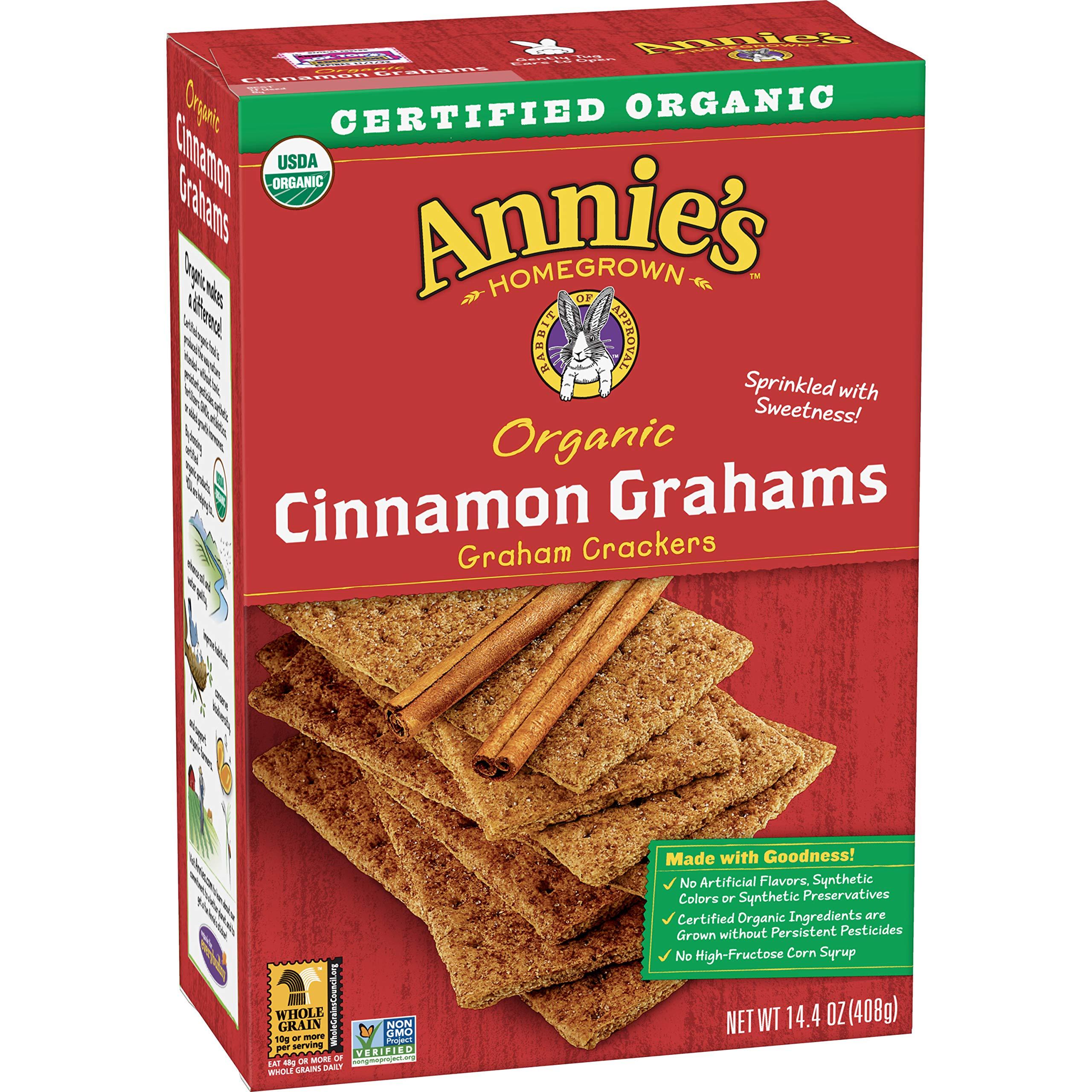 Annie's Organic Graham Crackers, Cinnamon Grahams, 14.4 oz Box