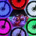 DAWAY Led Bike Wheel Light - A01 Waterproof Bright Bicycle Tire Lights Strip, Safety Spoke Lights, Cool Kids Boys Girls Bycicle Accessories, Light Up Wheels, with Battery