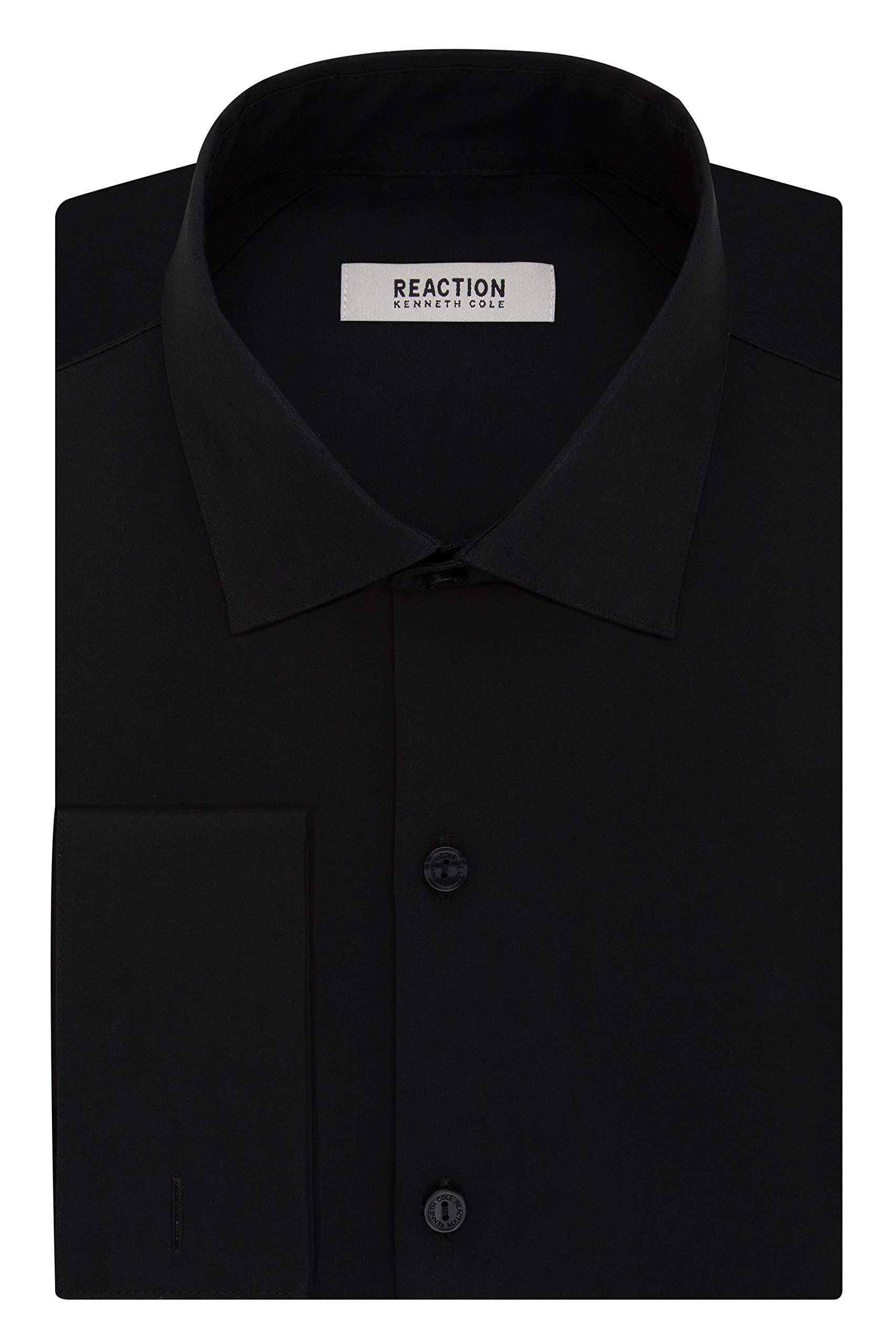 Kenneth Cole Reaction Men's Slim Fit Technicole Solid French Cuff