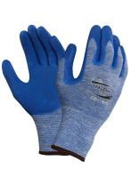 """Ansell 104459 HyFlex 11-920 Blue Heather Nylon Gloves with Blue Nitrile Palm Coating, 0.38"""" Height, 10"""" Length, 5"""" Wide, Size 9, Blue (Pack of 12)"""