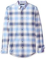 Nautica Men's Big and Tall Big & Tall Long Sleeve Plaid Oxford Button Down Shirt