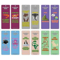 Creanoso Animals Fun Facts Series 1 Bookmarks (12-Pack) – Fun Animal Reading Learning Essential Set – Great Reading Collection Bookmarker Cards for Boys, Girls, Teens, Young Readers