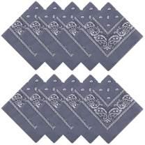 Bandana, 100% Cotton Multi-Purpose Double Sided Paisley Square Scarf Head Wrap