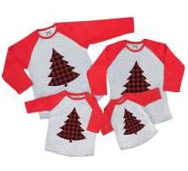 7 ate 9 Apparel Matching Family Christmas Shirts - Plaid Tree Red Shirt