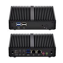 Qotom Dual LAN Mini PC Q150S with 2 HD Video Port, 6 USB, 4GB RAM 32GB SSD WiFi, Quad core Mini PC Windows/Linux