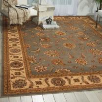 "Nourison Paramount Collection Blue Area Rug, 3 feet 11 Inches by 5 feet 10 Inches (3'11"" x 5'10"")"