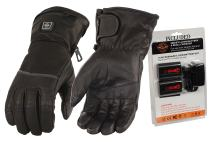 Milwaukee Leather-Men's Heated Gantlet Glove w/Touch screen-BATTERY PACK INCLUDED-BLACK-Large