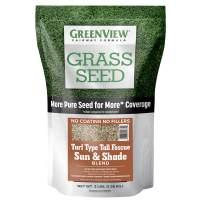 GreenView 2829346 Fairway Formula Grass Seed Turf Type Tall Fescue Sun & Shade Blend, 3 lb