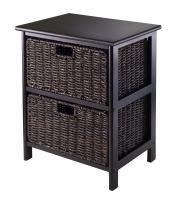 Winsome Omaha Storage/Organization, 2 Baskets, Black