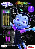 Vampirina Bendon 43248 Black Paper Coloring & Activity Book with Crayons, Multicolor