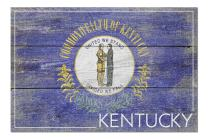 Rustic Kentucky State Flag (Premium 1000 Piece Jigsaw Puzzle for Adults, 20x30, Made in USA!)