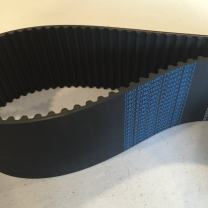 D&D PowerDrive 120-S8M-3800 Timing Belt, Torque, 1 Band, Teeth, Rubber