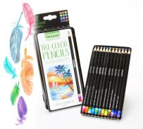 Crayola Tri-Shade Colored Pencils with Decorative Tin, 12ct, Gift